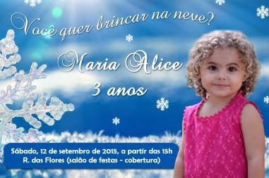 Convite Frozen Maria Alice