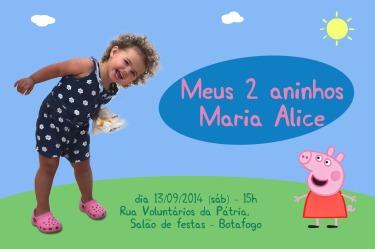 Convite Peppa Maria Alice